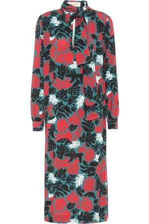 Marni Floral stretch-crêpe midi dress