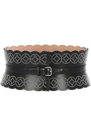 Alaïa Studded wide leather belt