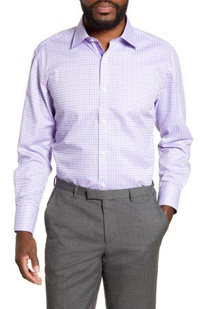 English Laundry Men's Regular Fit Windowpane Dress Shirt