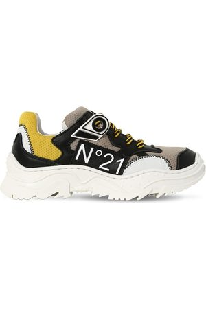 Nº21 Leather & Mesh Sneakers