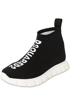 Dsquared2 Girls Flat Shoes - Slip-on Knit Sock Sneakers