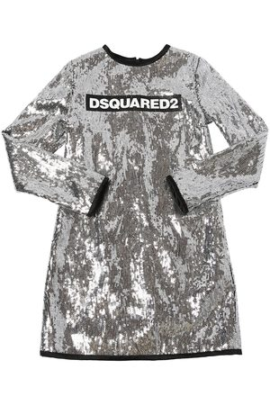 Dsquared2 Sequined Party Dress W/ Logo Print