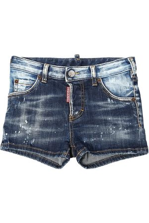 Dsquared2 Destroyed & Painted Stretch Shorts