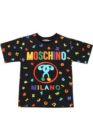 Moschino Embellished Cotton Jersey T-shirt