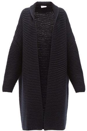 Raey Oversized Chunky-knit Cashmere Cardigan - Womens - Navy