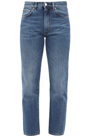 Totême Original Cropped Straight-leg Jeans - Womens - Denim