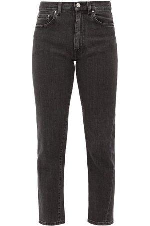 Totême Original Cropped Slim-leg Jeans - Womens - Grey