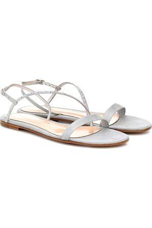 Gianvito Rossi Manhattan embellished sandals