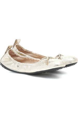 Tod's Metallic leather ballet flats