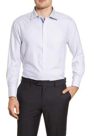 English Laundry Men's Trim Fit Stripe Dress Shirt