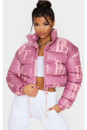 PRETTYLITTLETHING Crop Puffer Jacket