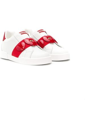 Dolce & Gabbana Heart strap slip-on sneakers
