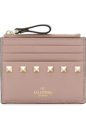 VALENTINO GARAVANI Rockstud zipped cardholder - Neutrals