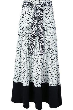 Proenza Schouler Pleated zebra-print skirt