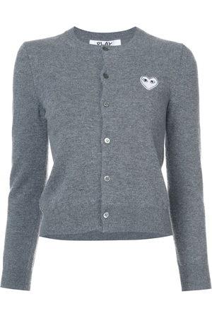 Comme des Garçons Women Cardigans - Heart embellished cardigan - Grey