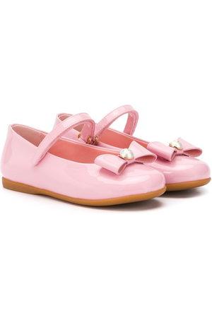 Dolce & Gabbana Girls Ballerinas - Mary Jane bow-detail ballerina shoes
