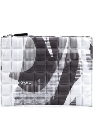 NO KA' OI Women Wallets - Printed quilted pouch - Grey