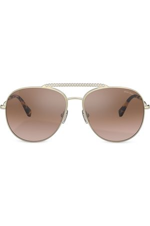 Miu Miu Embellished aviator sunglasses