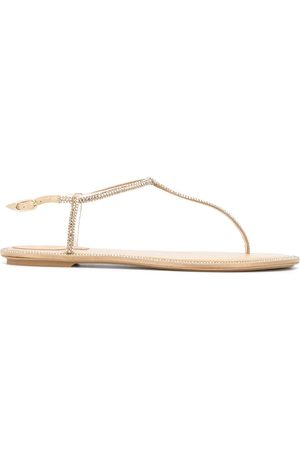RENÉ CAOVILLA Crystal embellished sandals - Neutrals