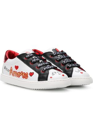 Dolce & Gabbana Amore patch-embroidered sneakers