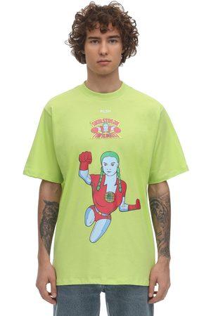 KLSH - KIDS LOVE STAIN HANDS Men T-shirts - Hero Printed Cotton T-shirt