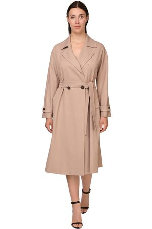 Persona by Marina Rinaldi Belted Viscose Twill Trench Coat
