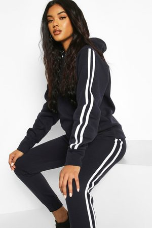 Boohoo Womens Hooded Fleece Side Stripe Tracksuit - - 6