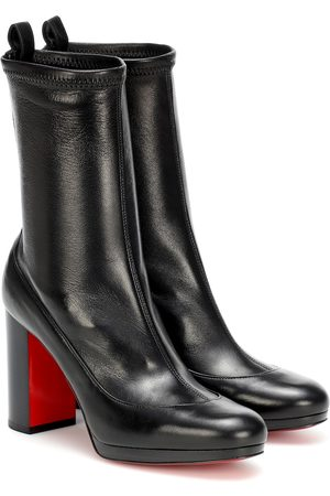 Christian Louboutin Contrevent 100 leather ankle boots