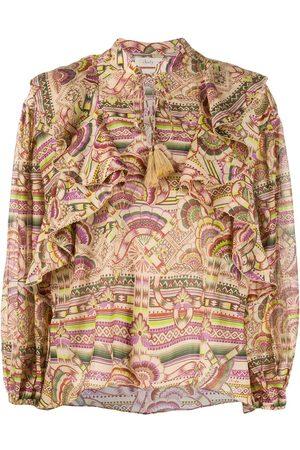 CHUFY Women Blouses - Nina print blouse - Neutrals