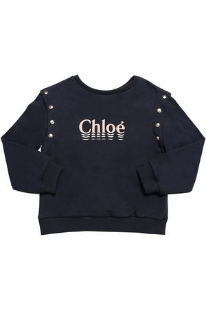 Chloé Logo Print Cotton Sweatshirt