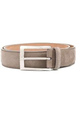 Scarosso Classic square buckle belt - Grey