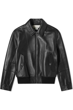 Alexander McQueen Men Leather Jackets - Leather Bomber Jacket