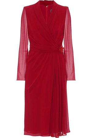 Max Mara Galizia silk-georgette midi dress