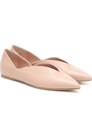Max Mara Fisher leather ballet flats