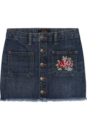 Ralph Lauren Embroidered denim skirt