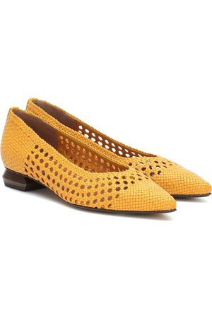 Souliers Martinez Illetes 30 woven leather ballet flats
