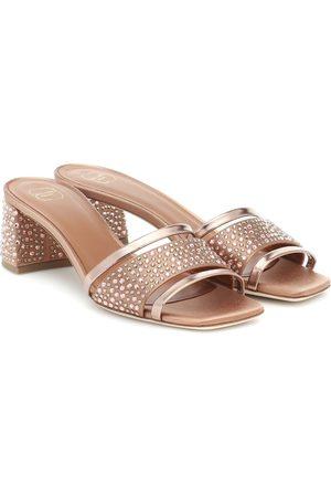 MALONE SOULIERS Rosa embellished satin sandals