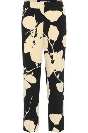 Max Mara Elodia floral cady straight pants
