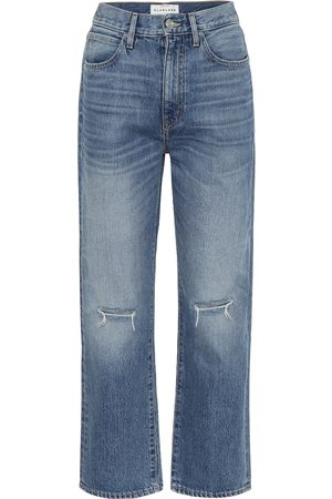 SLVRLAKE London high-rise straight cropped jeans