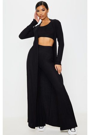 PRETTYLITTLETHING Brushed Rib Maxi Cardigan