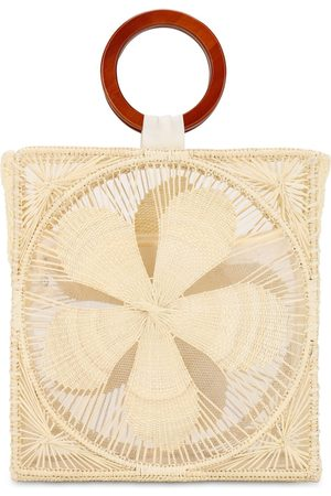 SENSI STUDIO Women Bags - Woven Flower Top Handle Bag