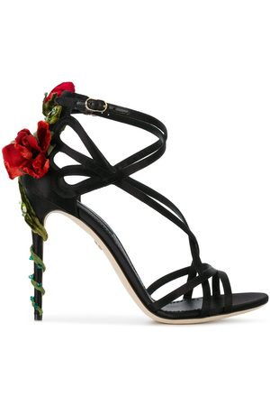 Dolce & Gabbana Keira embroidered satin sandals