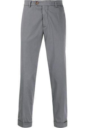 Brunello Cucinelli Men Chinos - Mid-rise slim chinos - Grey