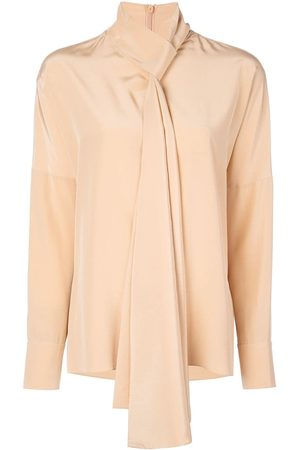 tibi Tie neck blouse - NEUTRALS