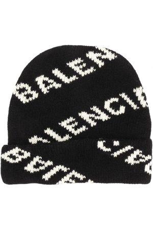 Balenciaga Knitted logo beanie