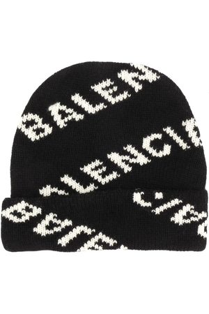 Balenciaga Men Beanies - Knitted logo beanie