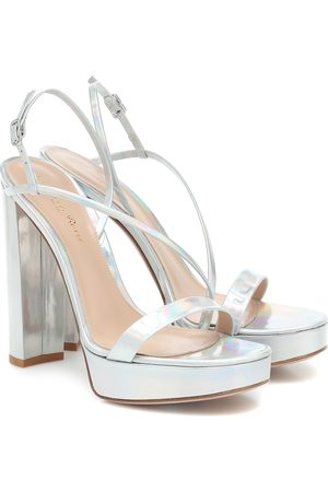 Gianvito Rossi Kimberly leather plateau sandals