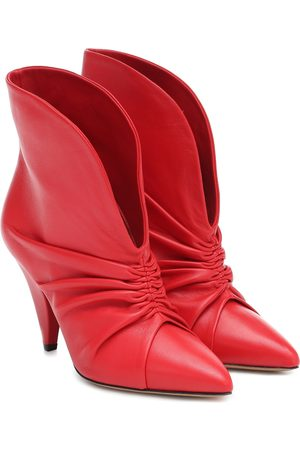 Isabel Marant Lasteen ruched leather ankle boots