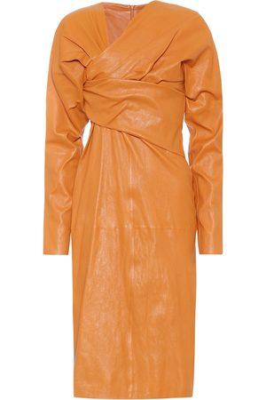 Bottega Veneta Leather midi dress