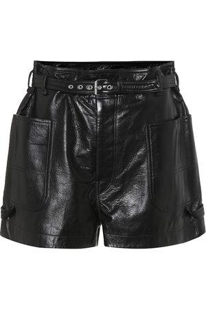 Isabel Marant Xike high-rise leather shorts